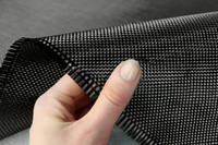 210g Plain Weave 3k Carbon Fibre Cloth In Hand Closeup Thumbnail