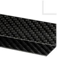 25 x 25mm Carbon Fibre Angle 1mm Thumbnail