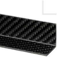 25 x 25mm Carbon Fibre Angle T=2mm, 1200mm Thumbnail