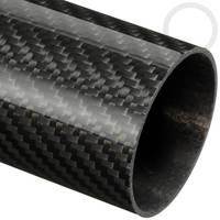 50mm (47mm) Woven Finish Roll Wrapped Carbon Fibre Tube Thumbnail