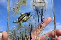 "Incredible resin artwork created using GlassCast® 10 clear epoxy resin with embedded objects and media. Thank you to artist Justine Bainbridge for sharing this extract from her work ""The Journey"" Visit www.justinebainbridge.co.uk to learn more. Thumbnail"
