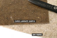 300g Non-Woven Flax Fibre Cured Laminate Sample Thumbnail