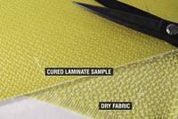 175g Satin Weave Kevlar Cloth Cured Laminate Sample Thumbnail