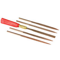 Perma-Grit Set of 5 Large Needle Files Including Handle Thumbnail