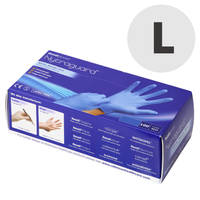 Nitrile Gloves - Box of 100 Large Thumbnail