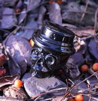 Resin Skull Casting with Jet Black CULR Epoxy Pigment Thumbnail