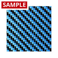 210g 2x2 Twill 3k Carbon Fibre Blue - SAMPLE Thumbnail