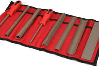 Perma-Grit Set of 8 Hand Tools in a Wallet Fine Wide Thumbnail