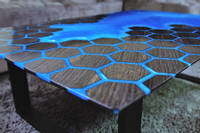 Bog Oak and Honeycomb Table by Special Works Thumbnail