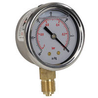 "Glycerine-Filled Vacuum Gauge 1/4"" BSP Bottom Entry Thumbnail"