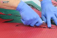 Cutting XT135 Tooling Prepreg - Backing Ply Thumbnail